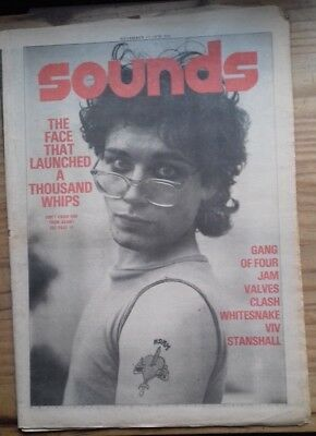 Sounds 1978.Adam Ant.Whitesnake.Stanshall.The Jam.Gang Of Four.The Clash.AC/DC