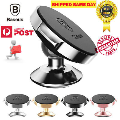BASEUS 360 Degree Rotating Cell Phone Holder Car Magnetic Mount Stand Universal