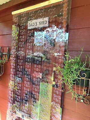 INSECT  STRIP DOOR - DIY Pattern style PVC strips and fixings - 6 x 2000mm long