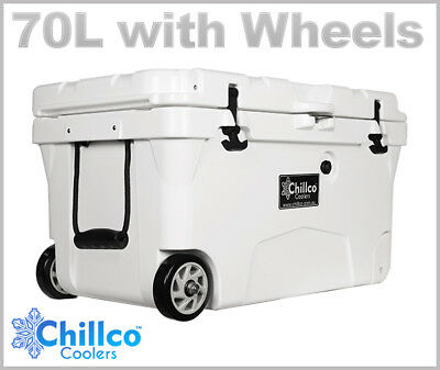 70L With Wheels Chillco Ice Box Cooler Chilly Bin Esky - Superior Ice Retention