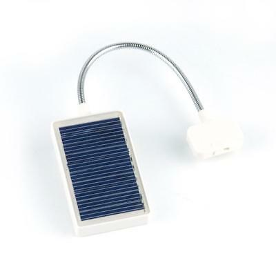 3 LED Portable Solar Book Light Reading Lamp with USB Interface Clip on Book WT