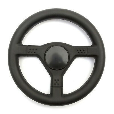 Classic Steering Wheel 3 Bolt Fixing Gokart Offroad Project Build Ergonomic Grip