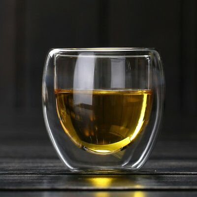 Heat-resistant Double Wall Glass Cup Beer Coffee Cup Transparent Glass Cup ZL