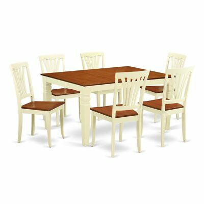 7  Pc  Kitchen  table  set  with  a  Dinning  Table  and  6  Wood  Dining ...