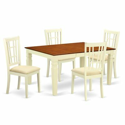 5  Pc  Dinette  set  with  a  Dinning  Table  and  4  Microfiber  Dining ...