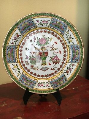 Decorative Plate China Porcelain Vase With Chrysanthemums
