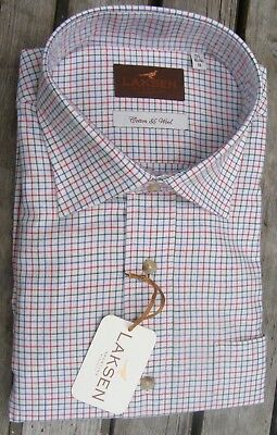 WAS £99 NOW £60 Mens Laksen Colin Tattersall Window Shirt all sizes