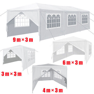 Gazebo Marquee Waterproof Outdoor Canopy Party Tent Garden Tent with Side 4 Size