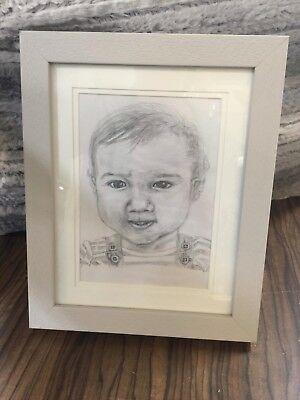 Framed Portrait commission of your child in pencil
