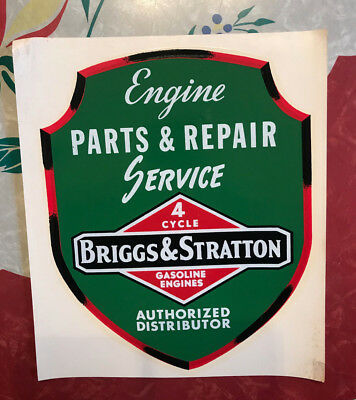 1950s/60s Engine Water Slide Dealers Decal Briggs And Stratton