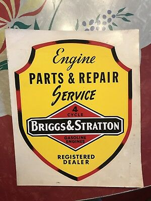 Large Engine Repair Water Slide Briggs And Stratton Decal