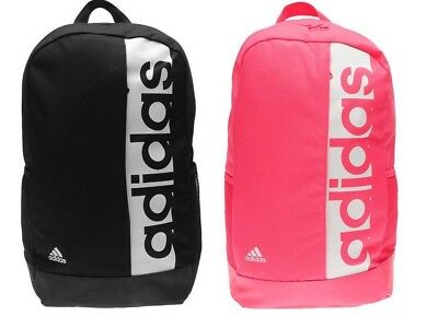 Adidas Linear Backpack Bag Training Rucksack Gym Sports School Black Pink Unisex