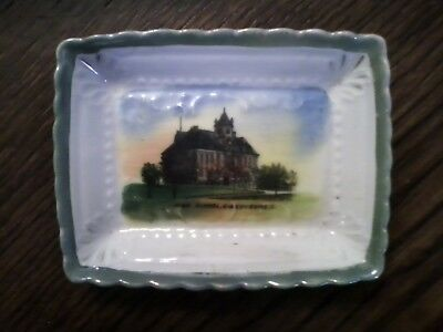 Antique Dish of Old High School, Gibsonburg OH