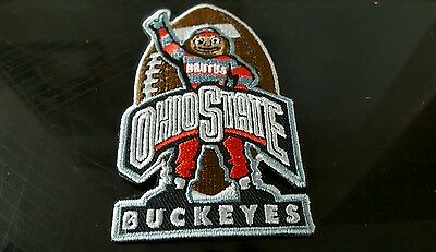 """OSU Ohio State Buckeyes Brutus Vintage Embroidered Iron On Patch  4""""x2.5"""""""
