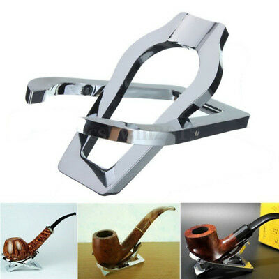 Stainless Steel Durable Pipe Smoking Tobacco Pipe Present Gift Stand Rack Holder
