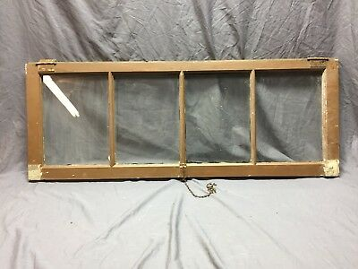 Antique 4 Lite Transom Casement Window Sash 18X48 Shabby Vintage Chic 394-18C