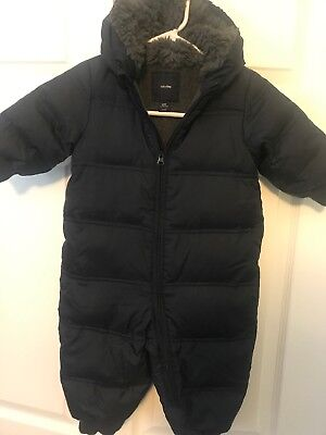 Baby Gap Snowsuit Bunting Infants Size 12-18 Months Down Puffer One Piece Boys