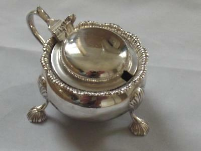 George 1V  1941 Large Solid Silver Mustard Pot With Great Design Estate Cleared