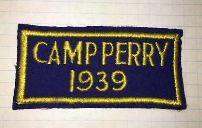 Camp Perry 1939 Ohio National Matches Nra Shooting Hunting Rare Felt Patch