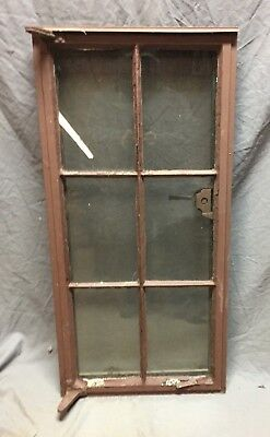 Vtg Industrial Steel 19X40 6 Lite Casement WIndow Old Factory Warehouse 397-18C