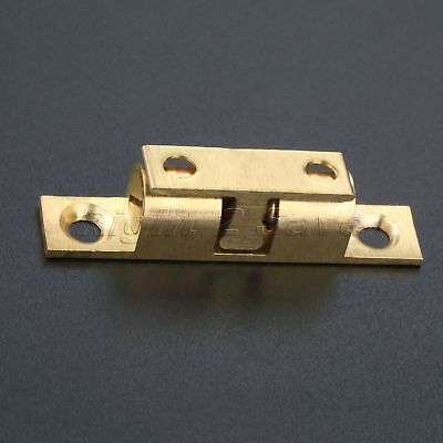 Brass Tone Drawer Cabinet Door Latch Clip Lock Durable Ball Touch Catches 60mm