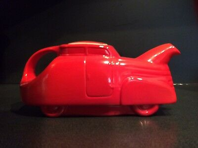 Hall China Chinese Red Automobile Teapot - Original/Excellent