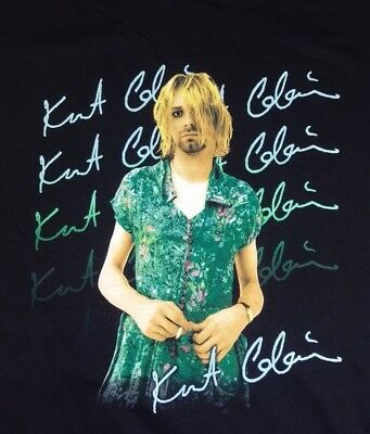 Vintage Kurt Cobain Nirvana In a Dress The End of Music 1993 Tee Shirt XXL