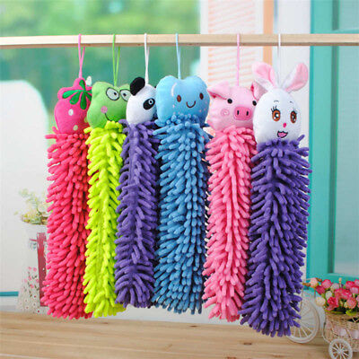 Kitchen Hang Towels Chenille Hand Face Wipe Towels Animal Bathroom Washcloth Gut