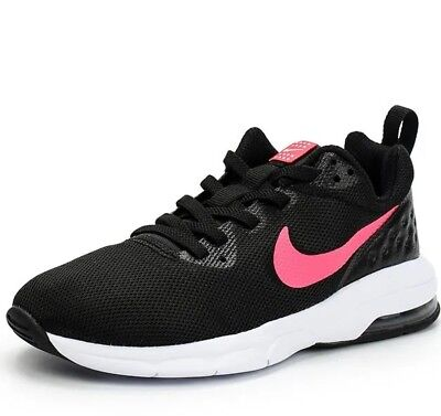 Nike Air Max Motion LW (PSW) Girls Trainer Shoe Black Racer Pink RRP £45/-