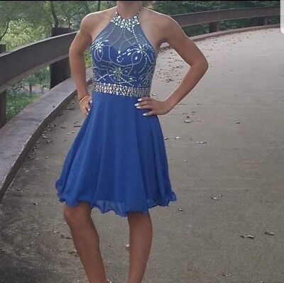 Formal Dress Size 4, Blue