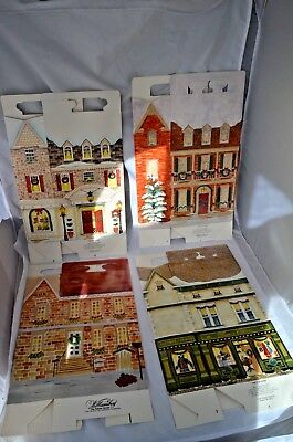 Lot of 4 different Byers Choice Carolers Village Boxes Gift or Christmas Display