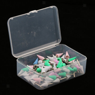 100PCS Screw on Disposable Dental Prophy Cup Brush Bur Pointed
