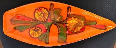 Poole Pottery Delphis Spear Dish Signed