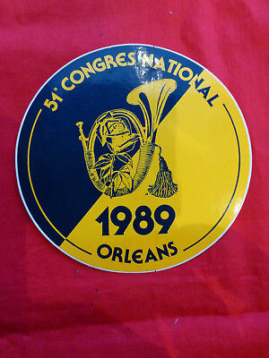 Autocollant 51 CONGRES NATIONAL 1989 ORLEANS . French badge