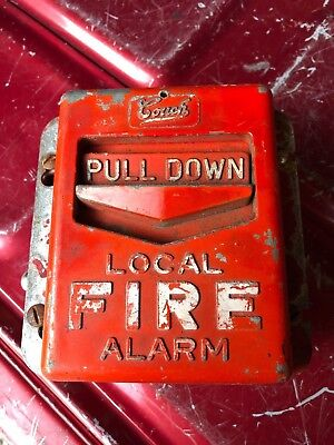 Vintage Couch Fire Alarm pull switch UNTESTED