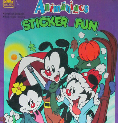 24-Yr.Old*Animaniacs Sticker Fun Activity Book*Unused Golden Book From 1994