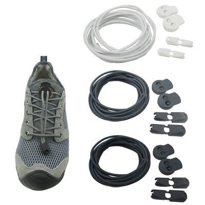 2 Pairs No Tie Shoelaces Elastic Laces Lock for Trainers Running Triathlon G9Z