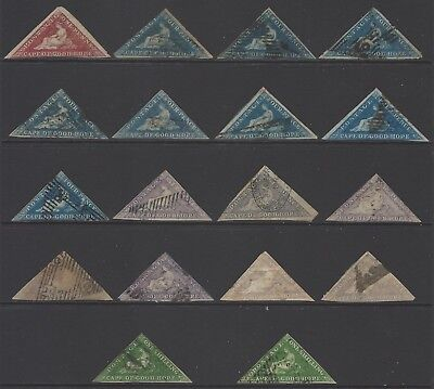 CAPE OF GOOD HOPE 1853-64 good collection early classic Triangle stamps, huge CV