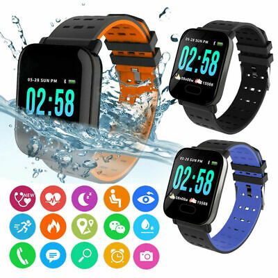 Waterproof Sport Smart Watch Blood Pressure Heart Rate Monitor iPhone Android US