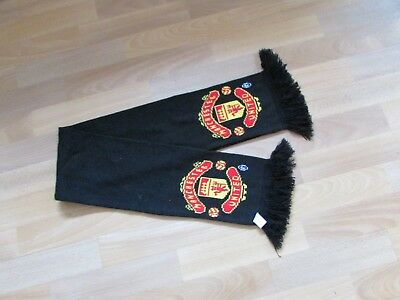 Official Manchester United all Black Childrens FOOTBALL Scarf