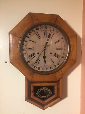 Rare Antique Seth Thomas Calendar Wall Clock  C.1890