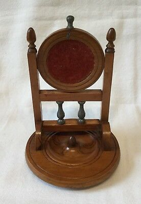 Rare Old Vintage Pocket Watch Holder Stand Wooden.                    ( MJ 270)