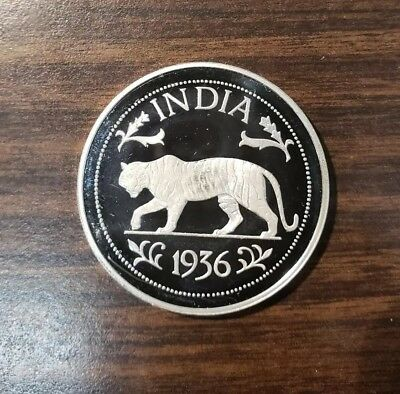 1936 India-British Edward Vlll Crown Silver Proof Coin