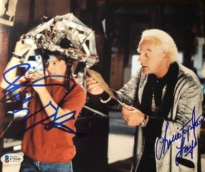 Michael J Fox Christopher Lloyd signed autographed 8x10 Photo Becket BAS COA