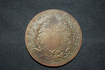 Medaille O.roty Ministere De L'interieur