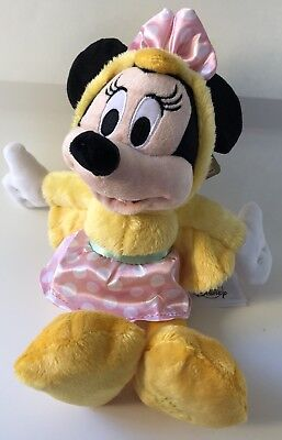 "Minnie Mouse Easter Plush Duck 2018 9"" Disney Theme Parks NEW NWT"