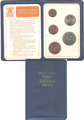 1971 First Decimal Coin Set; 1968 5p & 10p, 50th Birthday? free UK pp