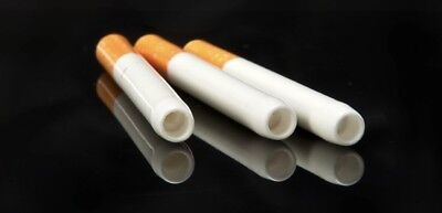 3X Ceramic Bat Cigarette Style Pipe | One Hitter Dugout | US SELLER - 3""
