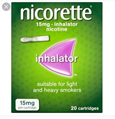 Nicorette 15mg Inhalator 20 Cartridges x 2 = 40
