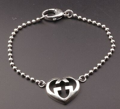 Genuine 925 Silver Bracelet Heart Fashionably Decorate Old Limited Edition